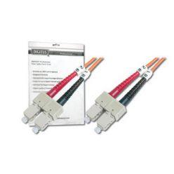 DIGITUS Fiber Optic Patch Cord, SC to SC, Multimode, OM1, 62.5/125 µ, Duplex Length 2m