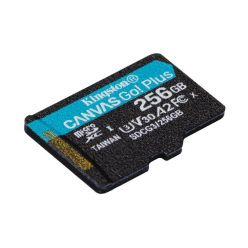 Kingston Canvas Go! Plus 256GB microSDXC karta, UHS-I V30 A2, 170R/100W