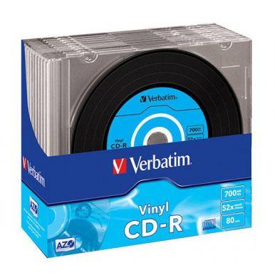 Verbatim CD-R Vinyl, 700MB, 52x, 10ks, slim case