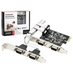 AXAGO PCEA-S4 PCI-Express adapter 4x sériový port