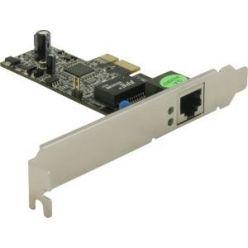 DeLock gigabitová síťová karta, low profile, PCIe-x1
