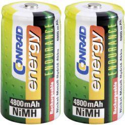 Conrad energy Endurance NiMH akumulátor, C, 1.2V, 4800mAh, 2ks
