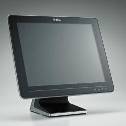 "Dotykový monitor FEC AM-1015B, 15"" LED LCD, AccuTouch (Single Touch), USB, bez rámečku, černo-stříbrný"
