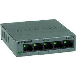 Netgear GS305-100PES, 5-portový gigabitový switch, kovový