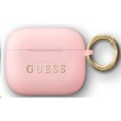 Guess Silikonový Kryt pro Airpods Pro Light Pink (EU Blister)
