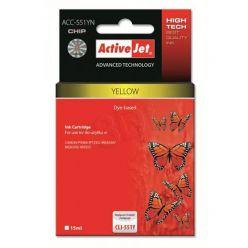 ActiveJet náhrada za Canon CLI-551Y, žlutá, 15ml