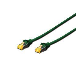 Digitus CAT 6A S-FTP patch cable, Cu, LSZH AWG 26/7, length 0.25 m, color green
