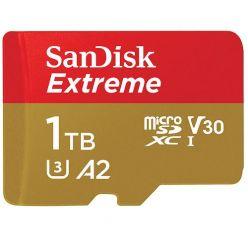 SanDisk Extreme 1TB microSDXC karta, UHS-I U3 A2, 160R/90W + adaptér