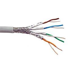 Kabel S/FTP (PiMF) kulatý, kat. 6a, Eca, 100m, drát
