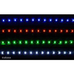 "Akasa ""VegasM"" secure 10 pc Magnetic LED strip light,  50cm, Red"