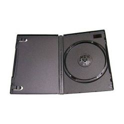 Plastový DVD Ultra slim box pro 1 DVD - 7mm, černý