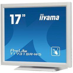 """iiyama T1731SR-W5, Dotykový monitor 17"""" LED, 5wire, 5ms, 200cd/m2, USB, VGA/HDMI/DP, matný, bílý"""