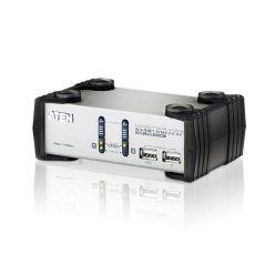 Aten CS-1732A, 2-portový KVM, USB+PS/2, audio, 1.2m kabely