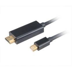 AKASA kabel mini DipIayPort 1.2 -> HDMI 2.0, 4K@60Hz, 1.8m, černý