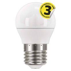 Emos LED žárovka MINI GLOBE, 6W/40W E27, WW teplá bílá, 470 lm, Classic A+