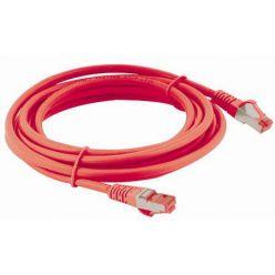 S/FTP patchkabel kat. 6, LSOH, 0,5m, červený