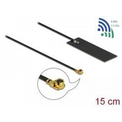 Delock W-Fi 6 interní samolepící anténa, 2-4 dBi, 15cm, MHF samec