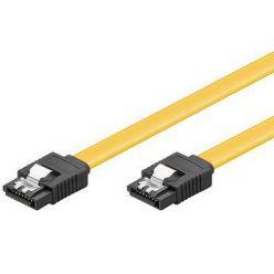 PremiumCord SATA III kabel, 1m, kovové západky, žlutý