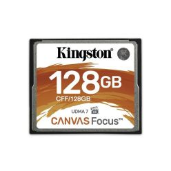 Kingston Canvas Focus 128GB CompactFlash karta,  150R/130W