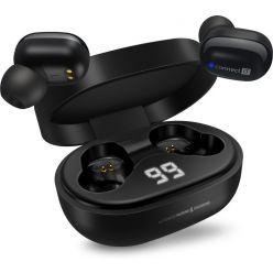 CONNECT IT True Wireless SensorTouch sluchátka do uší s mikrofonem, ČERNÁ