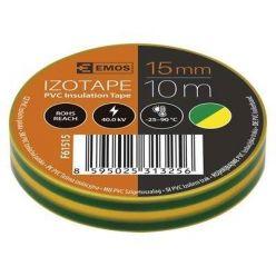 Izolační páska PVC 15/10 žluto/zelená