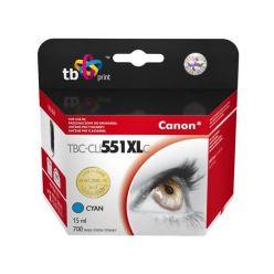 TB náhrada za Canon CLI-551XL, azurová, 15ml