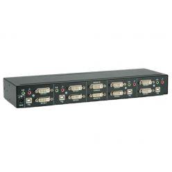 Přepínač počítačů (USB Klávesnice, dual DVI, USB Myš, Audio) 4:1, USB