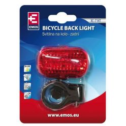 LED cyklosvítilna XC-714T, 3 diody, 2x AAA, zadní