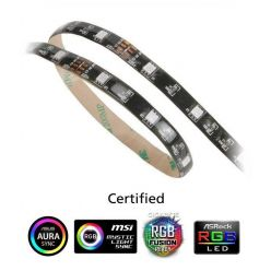 """Akasa """"VegasMB"""" secure 10 pc Magnetic LED strip light,  50cm, RGB"""