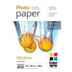 COLORWAY lesklý fotopapír A4, 180g/m2, 50 listů