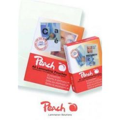 PEACH/OEM Laminovací folie lesklé 100ks Credit Card, 54x86mm, 125mic