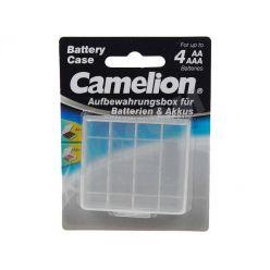 Transparentní pouzdro pro 4x AA/AAA baterie - blistr