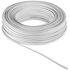 Kabel k reproduktorům, 2x0,75mm2, měď, bílý, 25m