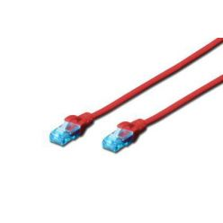 Digitus patch kabel UTP RJ45-RJ45 level CAT 5e 3m červená
