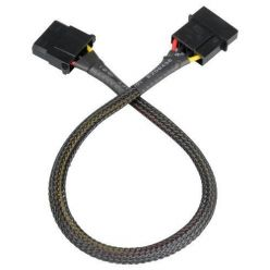 AKASA prodlužovací molex kabel, 30cm, černý