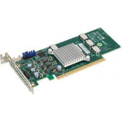 Supermicro 12.8GB/s quad-Port Gen-3 Internal NVMe Host Bus Adapter (PCIe retimer card)