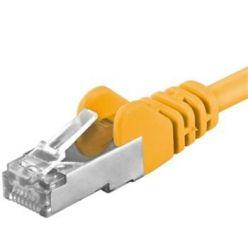 Premiumcord Patch kabel CAT6a S-FTP, RJ45-RJ45, AWG 26/7 2m, žlutá