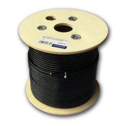 DATACOM S/FTP drát CAT7  PE,Fca  100m, plášť černý  OUTDOOR