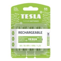 Tesla AA RECHARGEABLE+ nabíjecí Ni-MH, 4 ks, ND