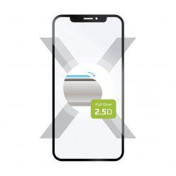 Ochranné tvrzené sklo FIXED Full-Cover pro Motorola E6s Plus, lepení přes celý displej, černé