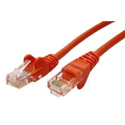 Patch kabel UTP RJ45-RJ45 level 5e 10m oranžová