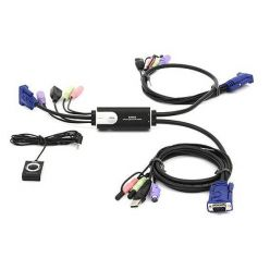 ATEN KVM switch CS-52A Hybryd PS/2 kláv.,USB myš 2 PC, audio