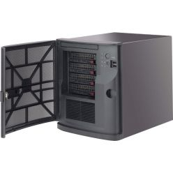 """SC721TQ-250-2 cube, mITX 6,75""""×6,75"""" (max.65W), 4×3,5"""", 250W(80+ BRONZE), černý - X11Sxx"""