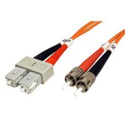 Optický patchkabel ST-SC 50/125 (multi mode), duplex, 1m