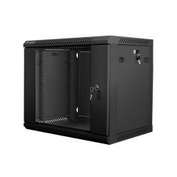 Nástěnný rack 19'' 9U 600X450mm černý