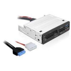 """Delock čtečka paměťových karet 63v1, interní, 3.5"""", USB 3.0, černá"""
