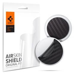 Spigen AirSkin Shield HD 4-Pack, ochranné fólie pro Apple AirTag, carbon