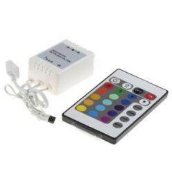 RGB LED kontrolér  s IR dálkové ovládání - 24 tlačítek