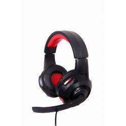 Sluchátka s mik Gembird GHS-U-5.1-01, gaming, 5.1 surround, černo-červená, USB