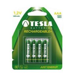 Tesla AAA RECHARGEABLE+ nabíjecí AAA Ni-MH baterie, 800mAh, 4 ks